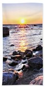Sunset Over Water Hand Towel