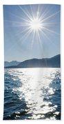 Sunshine Over An Alpine Lake Bath Towel