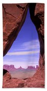 Teardrop Arch Monument Valley Bath Towel