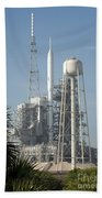 The Ares I-x Rocket Is Seen Bath Towel