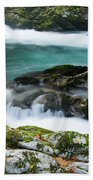 The Soteska Vintgar Gorge In Autumn Bath Towel