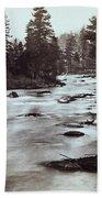 Truckee River - California - C 1865 Bath Towel
