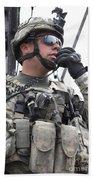U.s. Army Soldier Communicates Hand Towel
