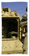 U.s. Army Soldiers Provide Security Bath Towel