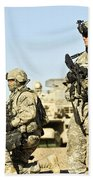U.s. Soldiers Conduct A Combat Patrol Bath Towel