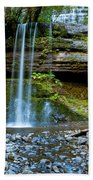 Waterfall In Deep Forest Bath Towel