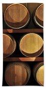Wine Barrels Bath Towel