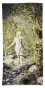 Woman In A Forest Hand Towel