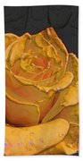 Yellow Rose Art Bath Towel