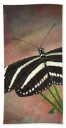 Zebra Longwing  Butterfly-2 Bath Towel