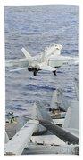An Fa-18e Super Hornet Launches Bath Towel