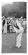 Silent Film Still: Golf Bath Towel