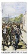 Great Railroad Strike, 1877 Bath Towel