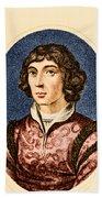 Nicolaus Copernicus, Polish Astronomer Bath Towel