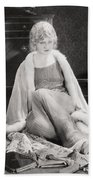 Silent Film Still: Woman Bath Towel