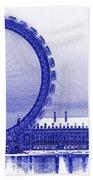 London Eye Art Bath Towel