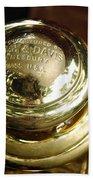 1907 Stanley Steamer - Top View Brass Tail Light Hand Towel