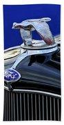 1932 Ford V8 Hood Ornament Bath Towel