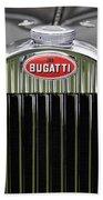 1939 Bugatti Type 57 Galibier Sports Saloon Hood Emblem Bath Towel