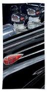 1939 Lincoln Zephyr Engine Bath Towel