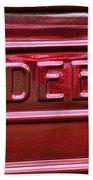 1947 Studebaker Tail Gate Cherry Red Bath Towel