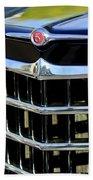 1950 Willys Jeepster Grille Emblem Bath Towel