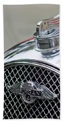 1953 Morgan Plus 4 Le Mans Tt Special Hood Ornament        Bath Towel