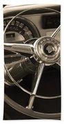 1953 Pontiac Steering Wheel - Sepia Hand Towel