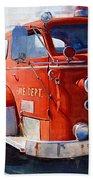 1954 American Lafrance Classic Fire Engine Truck Bath Towel