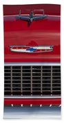1955 Chevrolet 210 Hood Ornament And Grille Bath Towel