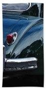 1956 Jaguar Xk 140 - Rear And Emblem Bath Towel