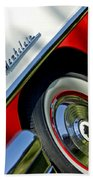 1956 Mercury Montclair Wheel Emblem Bath Towel