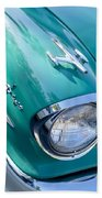 1957 Oldsmobile 98 Starfire Convertible Fender Spear Hand Towel