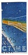 1962 Man In Space Stamp Bath Towel