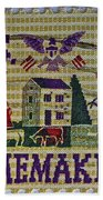 1964 Homemakers Five Cent Stamp Bath Towel