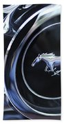 1970 Ford Mustang Gt Mach 1 Wheel Rim Emblem Bath Towel