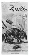 19th Century Political Cartoon Bath Towel