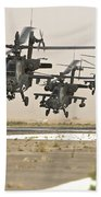 A Group Of Ah-64d Apache Helicopters Bath Towel