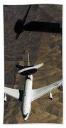 A U.s. Air Force E-3 Sentry Aircraft Bath Towel