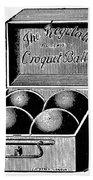 Croquet, C1900 Bath Towel