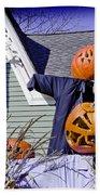 Fall  Halloween On Tillson Street Bath Towel