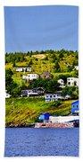 Fishing Village In Newfoundland Bath Towel