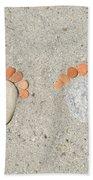 Footprints Bath Towel