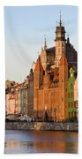 Gdansk Old Town In Poland Hand Towel