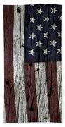 Grungy Textured Usa Flag Bath Towel