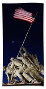 Iwo Jima Memorial At Dusk Bath Towel
