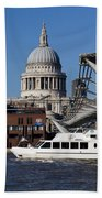 Millenium Bridge And St Pauls Cathedral Bath Towel
