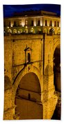 New Bridge In Ronda Bath Towel