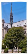 Notre Dame Cathedral Paris France Bath Towel
