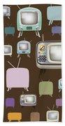 retro TV pattern  Bath Towel
